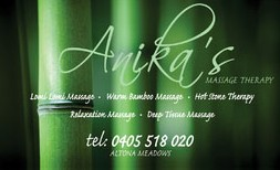 Anikas Massage Therapy - Accommodation Adelaide