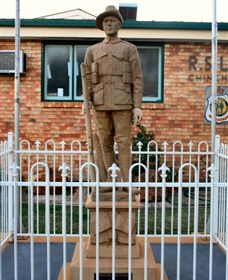 Soldier Statue Memorial Chinchilla - Accommodation Adelaide