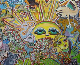 The Painting of Life by Mirka Mora - Accommodation Adelaide