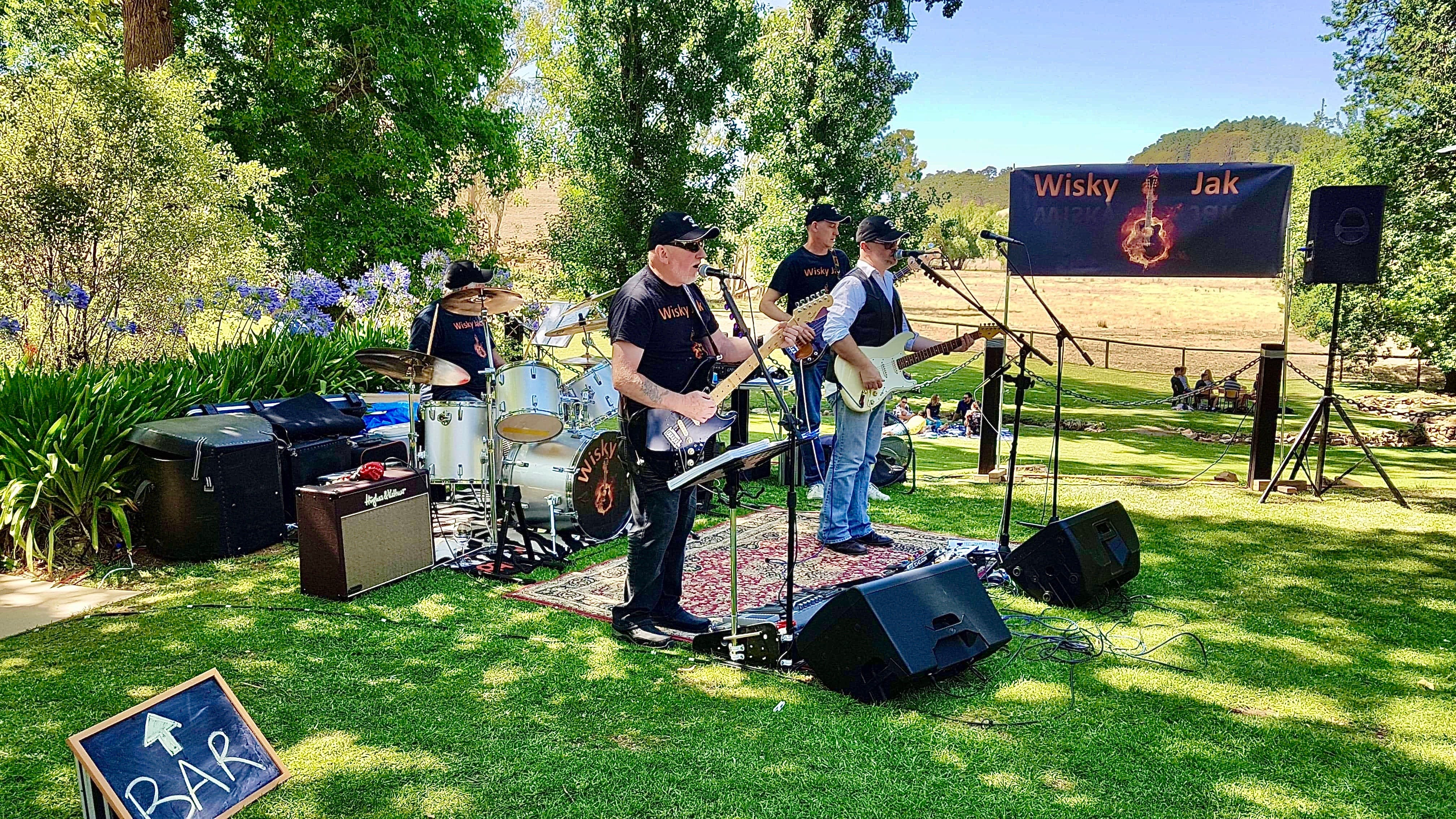 Angas Plains Wines Live in the Vines with the band -Wisky Jak - Accommodation Adelaide