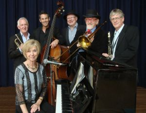 The Caxton Street Jazz Band in the Swigmore Hall at Robert Channon Wines - Accommodation Adelaide