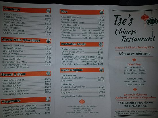 Tse's Restaurant - Accommodation Adelaide