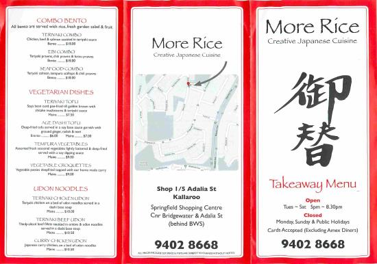 More Rice - Accommodation Adelaide